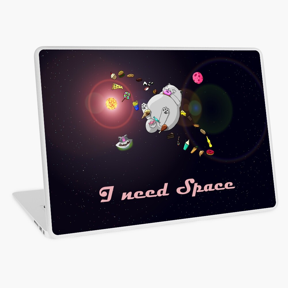 Caturn - I need Space Laptop Folie