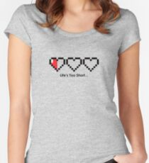 The Legend of Zelda - Life's Too Short… Women's Fitted Scoop T-Shirt