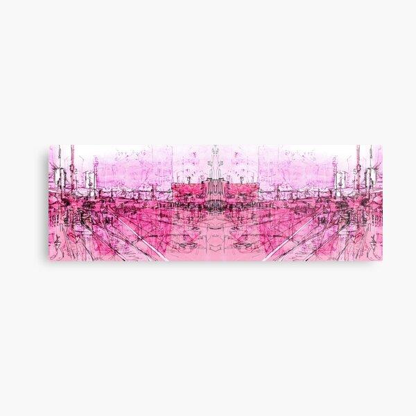 pink - huddersfield train stationx Metal Print