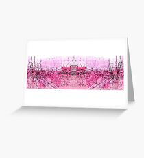 pink - huddersfield train stationx Greeting Card