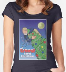 Ernest (Hemingway) Saves Christmas Women's Fitted Scoop T-Shirt