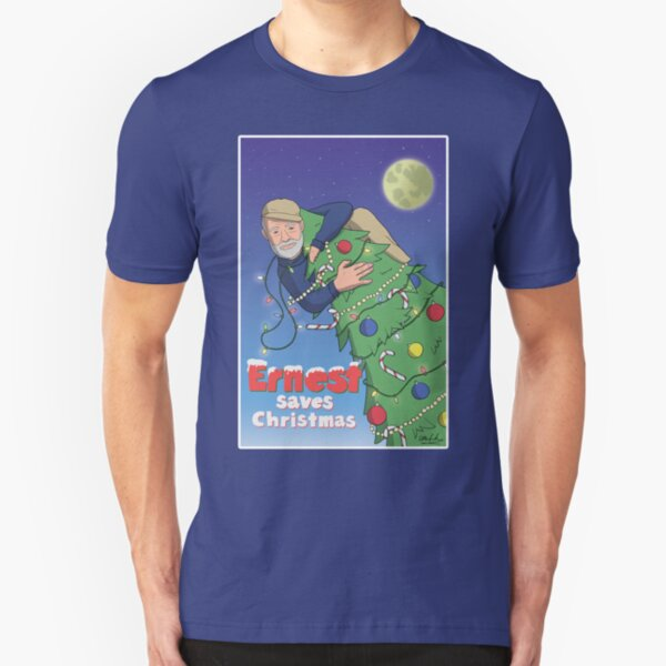 Ernest (Hemingway) Saves Christmas Slim Fit T-Shirt