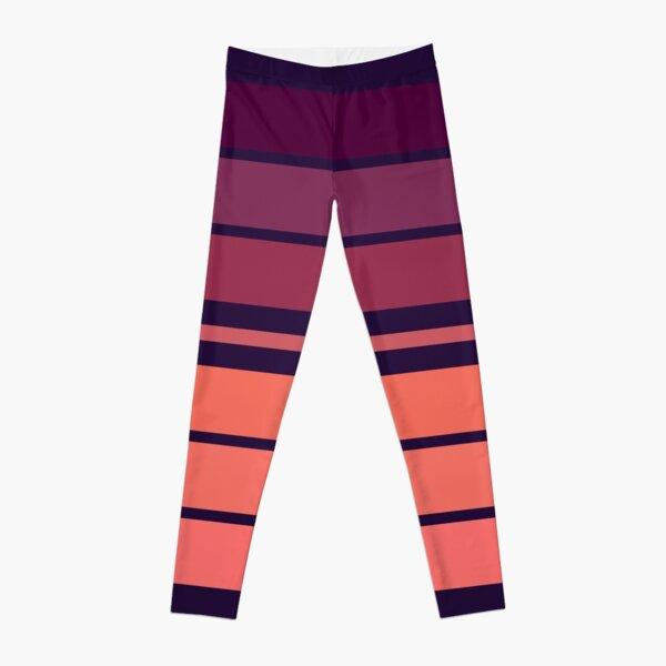 Pink World Stripes  Leggings