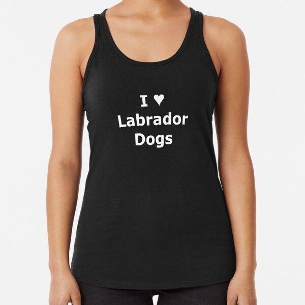 SMandH 0666 I Love (Heart) Labrador Dogs 0001 Racerback Tank Top