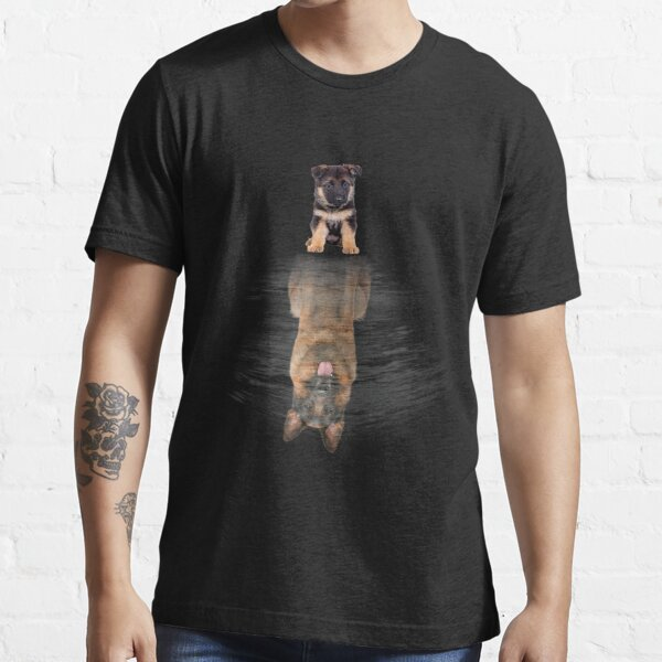 German Shepherd Dream Reflection Funny Dog Mom Dad Pet Lover Essential T-Shirt