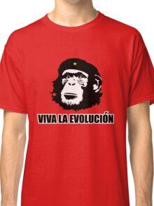 Viva La Evolucion Funny Chimp Che Classic T-Shirt