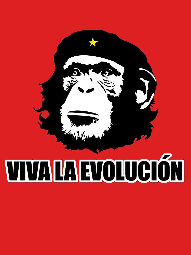 Viva La Evolucion Funny Chimp Che | Unisex T-Shirt
