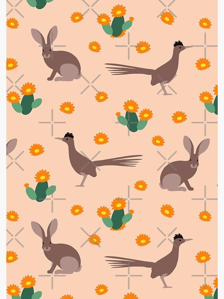 Desert Rabbits and Roadrunners by nadyanadya
