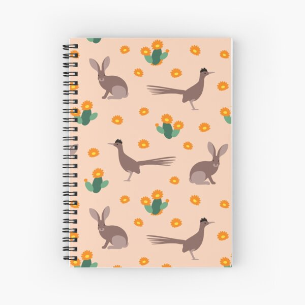 Desert Rabbits and Roadrunners Spiral Notebook