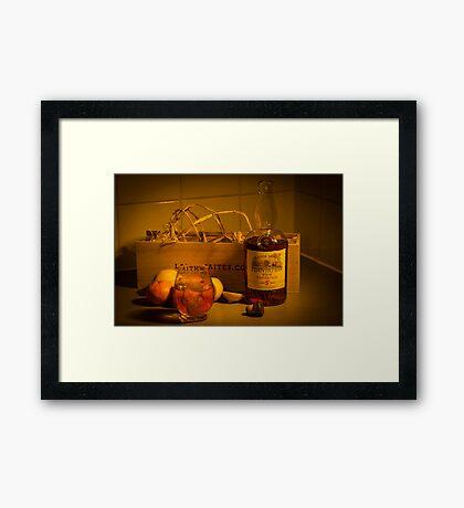 Dark Rum Fine Art Framed Print