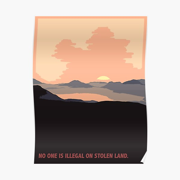 On Stolen Land - Red Poster