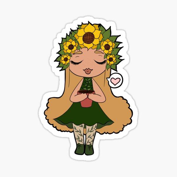 Sunflower Baby Sticker