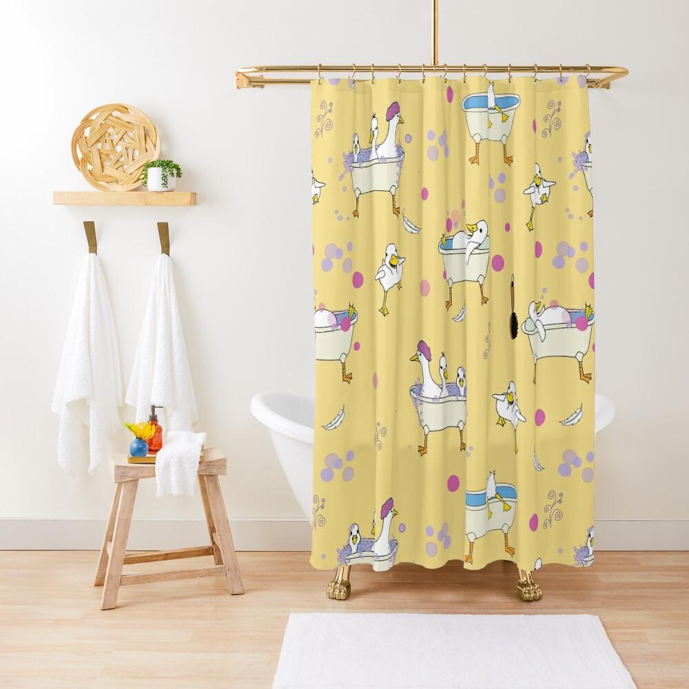 Rub a Dub Ducks in a Tub Shower Curtain