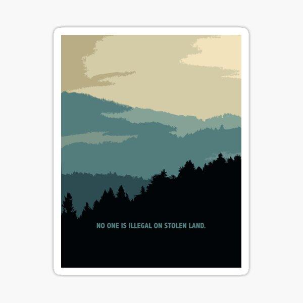 On Stolen Land - Blue Sticker