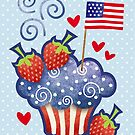 American Pride Cupcake by prettycritters