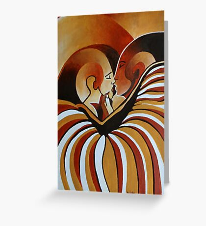 Touched By Africa  Greeting Card