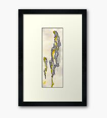 Yellow to Grey Framed Print