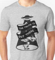 La vérité est là-bas T-shirt ajusté