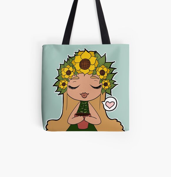 Sunflower Baby All Over Print Tote Bag