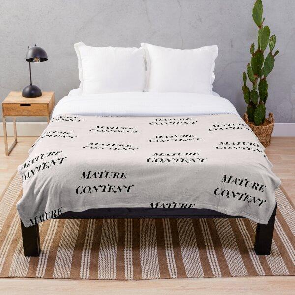 Mature Content Throw Blanket