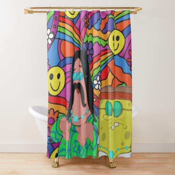 Hippie Spongebob Shower Curtain