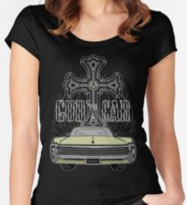 God's car Women's Fitted Scoop T-Shirt