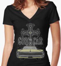 God's car Women's Fitted V-Neck T-Shirt