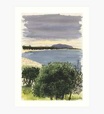 Cabbage Tree Island, Hawks Nest Art Print