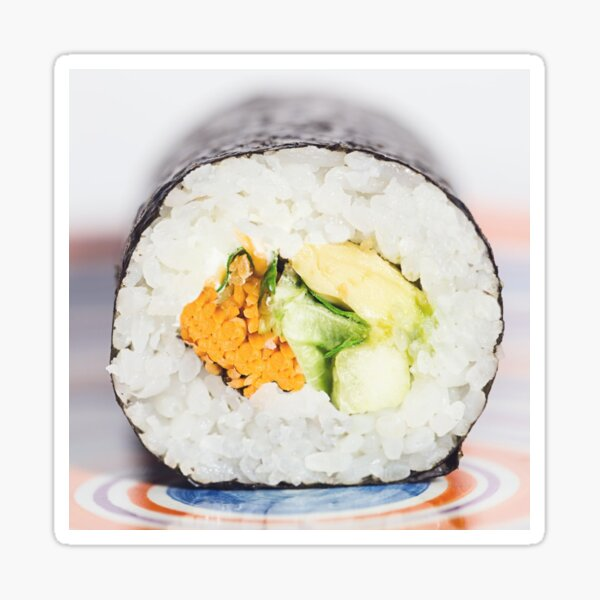 Sushi roll Fish and rice Sticker