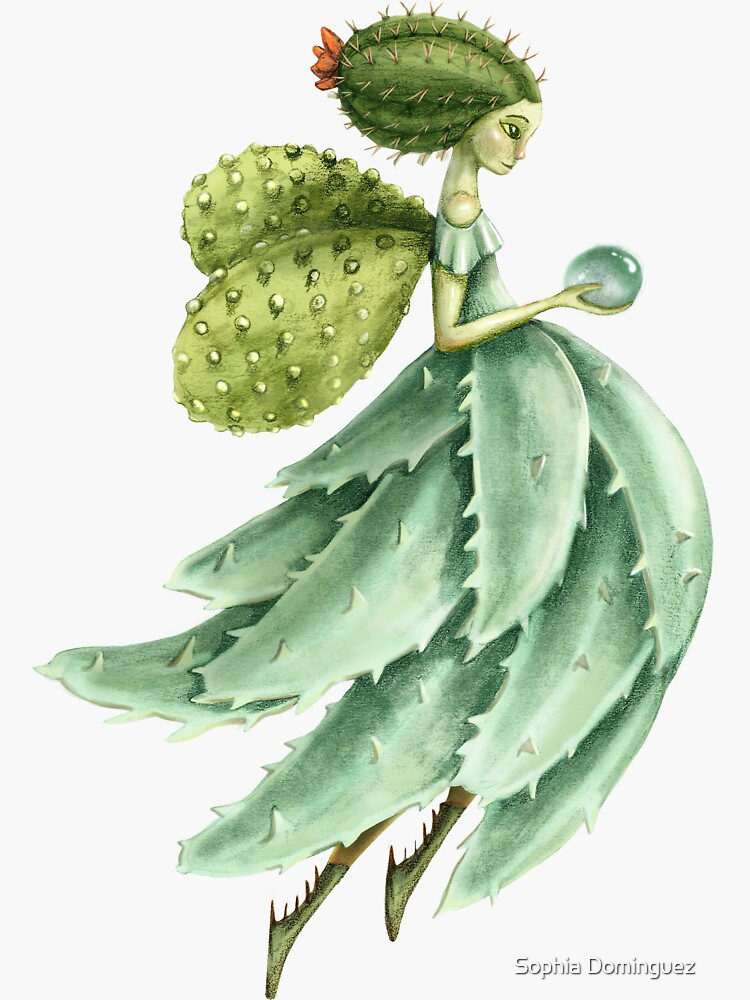Succulent Fairy Sticker by SophiDominguez