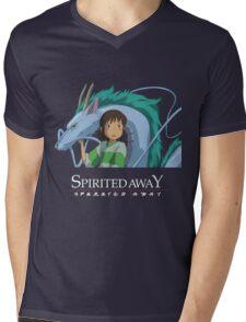 Spirited Away Chihiro and Haku-Studio Ghibli Mens V-Neck T-Shirt