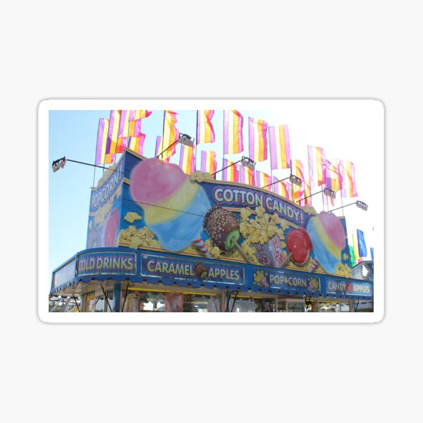 Cotton Candy Carnival Stand Sticker