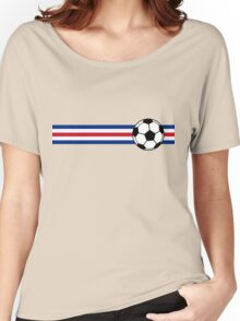 Football Stripes Costa Rica Women's Relaxed Fit T-Shirt