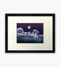 Moonlight Sailing Framed Print