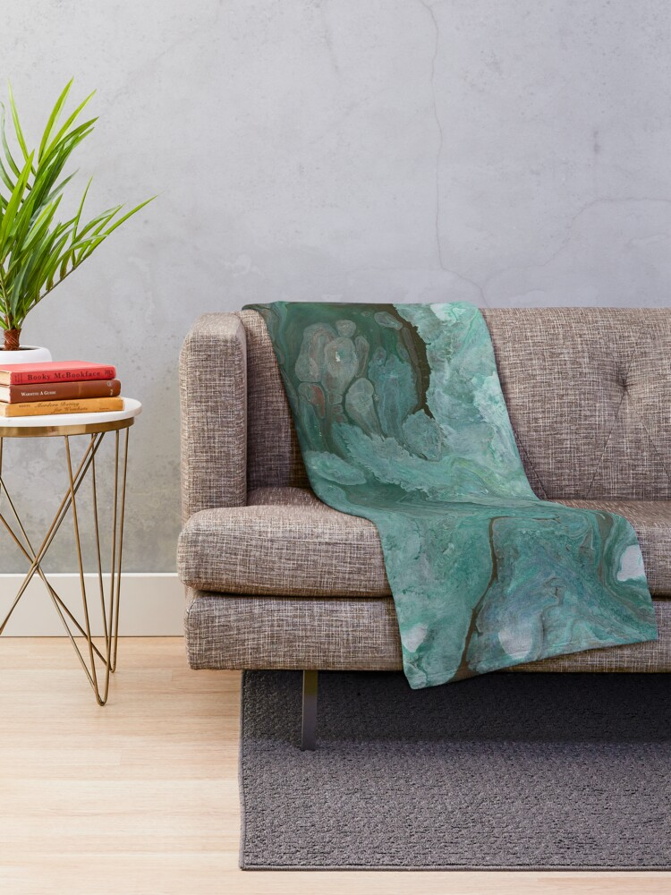Alternate view of Sudden Thaw 3 Throw Blanket