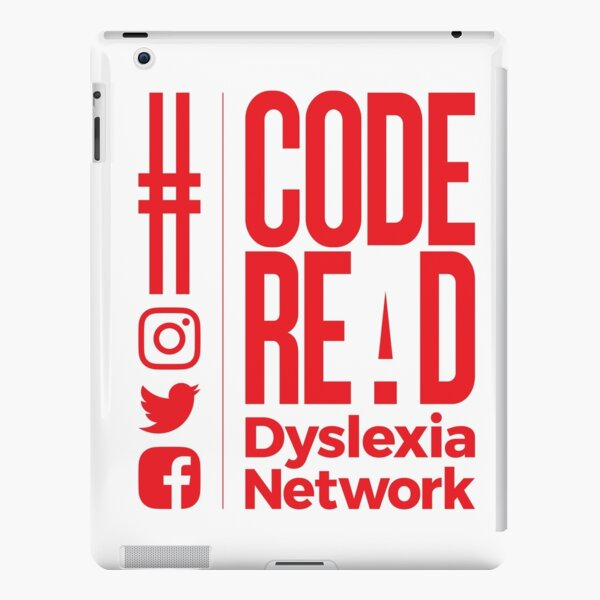 Code REaD White/Red iPad Snap Case