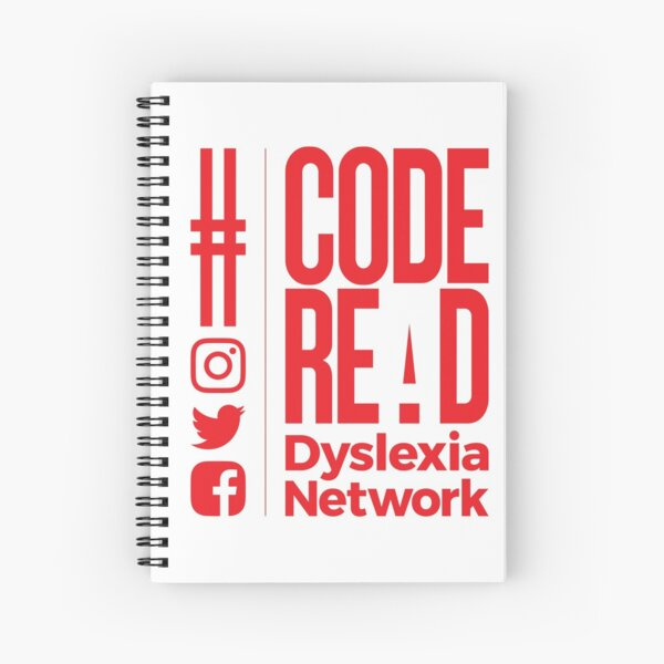 Code REaD White/Red Spiral Notebook