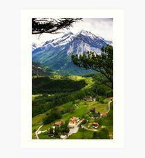 Meiringen Art Print