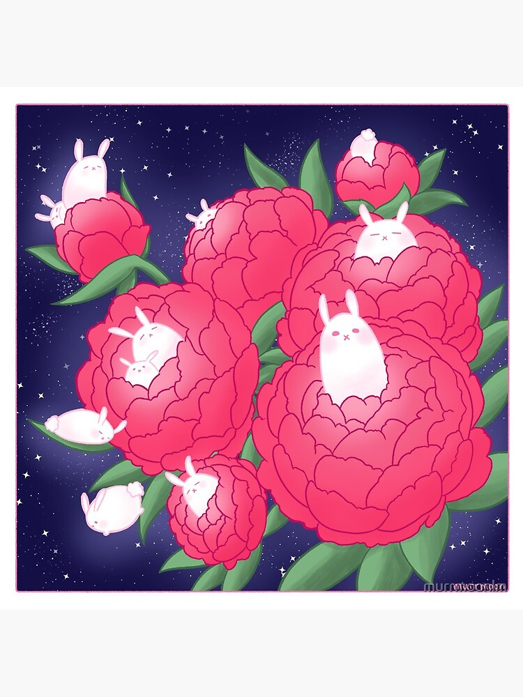 Peony Bunnies by murrmoonlm