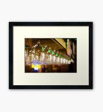 Hanging Stemware Framed Print
