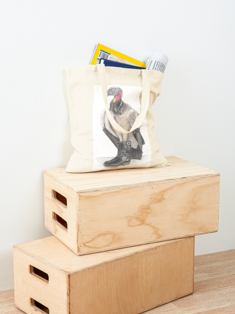 Alternate view of King vulture in biker boots Tote Bag