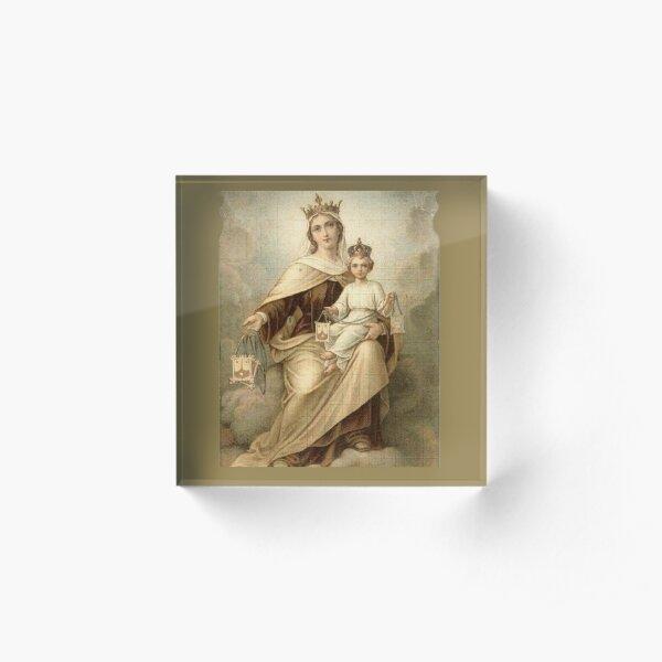 Our Lady of Mount Carmel 4 Acrylic Block