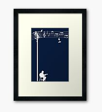 Wired Sound - White Framed Print