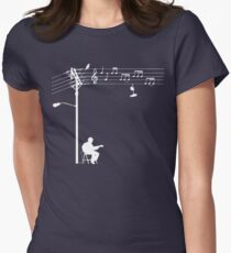 Wired Sound - White Women's Fitted T-Shirt