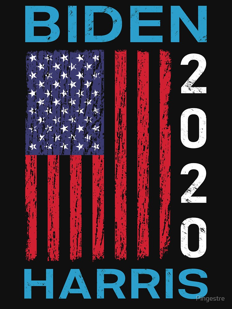 Biden Harris 20 Joe Biden Kamala Harris 2020 President Election Us Flag Vintage T Shirt By Pingestre Redbubble