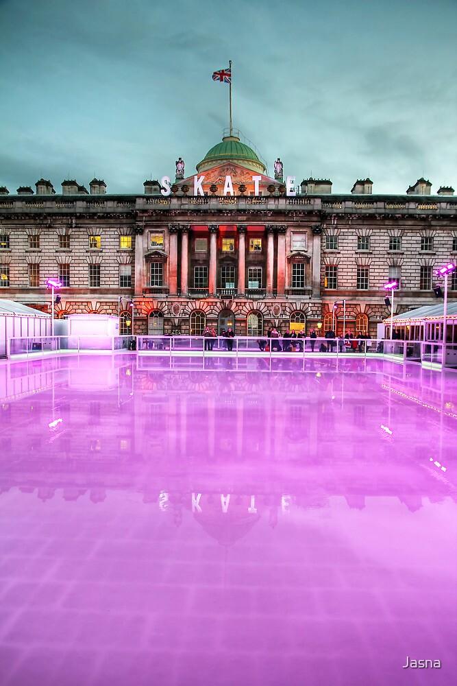 Skating at Somerset House by Jasna