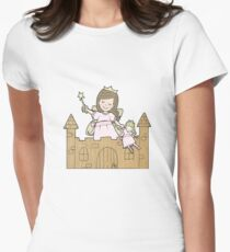 Cardboard Kid Castle (Little Stars Collection) Women's Fitted T-Shirt