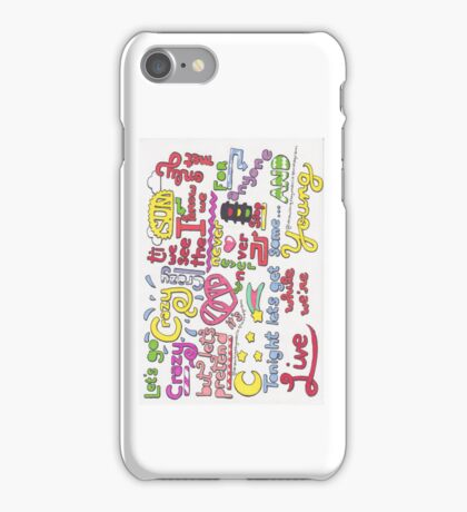 """""""Live While We're Young"""" Lyric Drawing iPhone Case/Skin"""