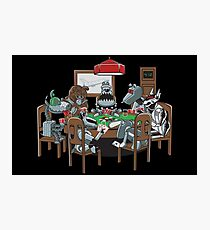 Robot Dogs Playing Poker Photographic Print