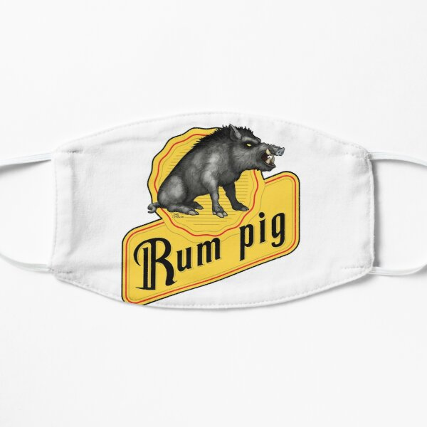 Rum Pig Flat Mask